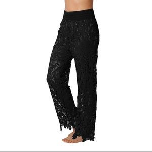 Pants - Lace Crochet Black Pants